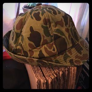 Vintage camouflage bucket hat